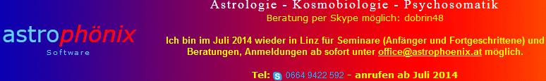 Astrologie - Kosmobiologie - Psychosomatik